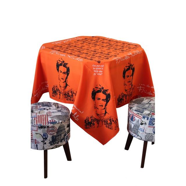 Toalha de Mesa Frida Kahlo Laranja