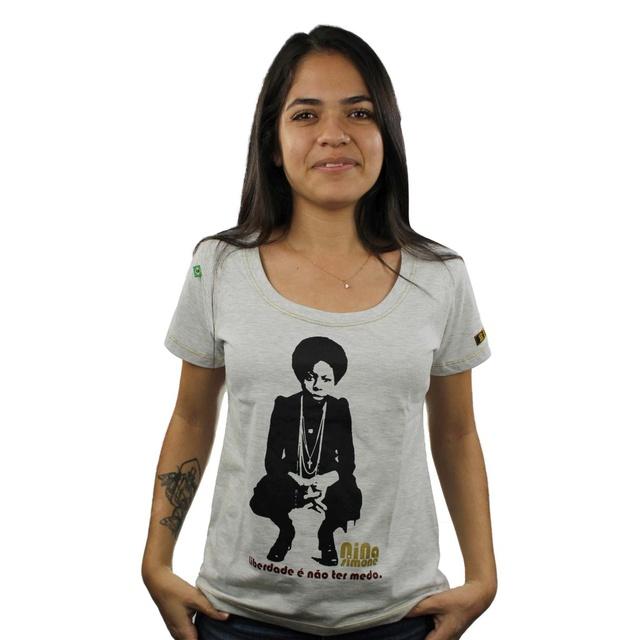 Babylook Nina Simone Liberdade Gelo