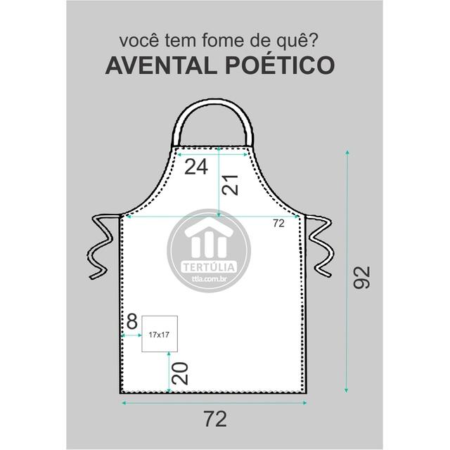 Avental Fernando Pessoa Preto