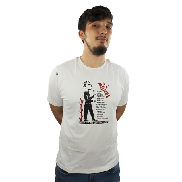 Camiseta Ariano Suassuna Branca