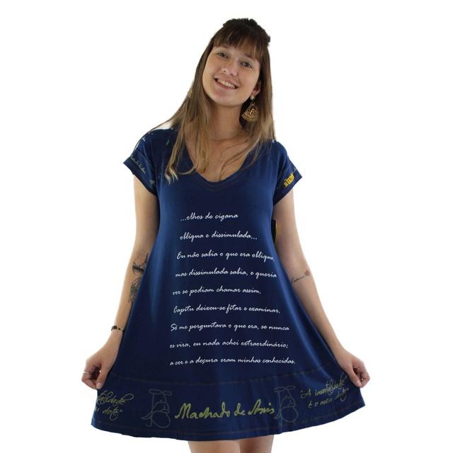Vestido Machado de Assis Marinho
