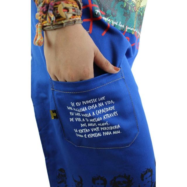 Avental Frida Kahlo Azul