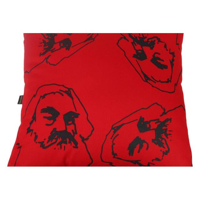 Capa de Almofada Karl Marx Vermelha