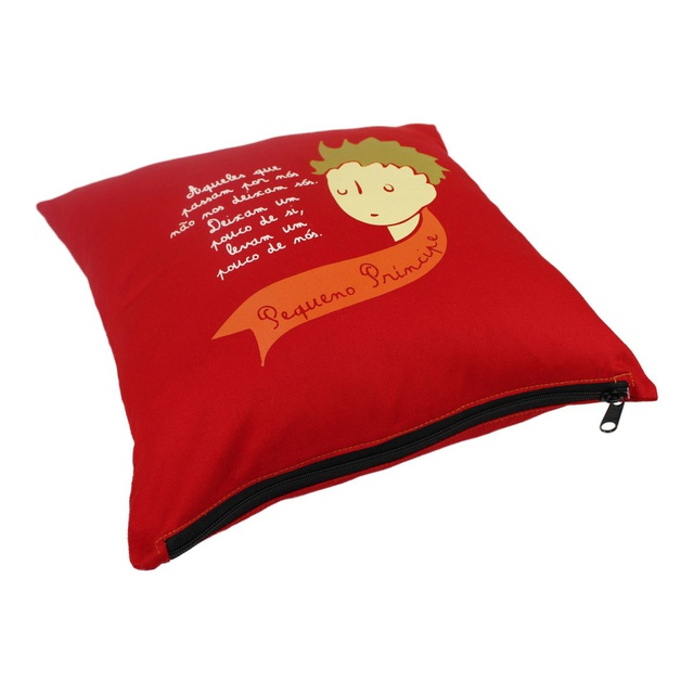 Capa de Almofada Pequeno Príncipe Vermelha