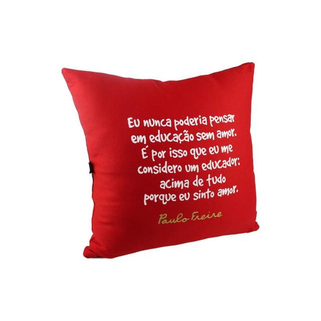 Capa de Almofada Paulo Freire Vermelha