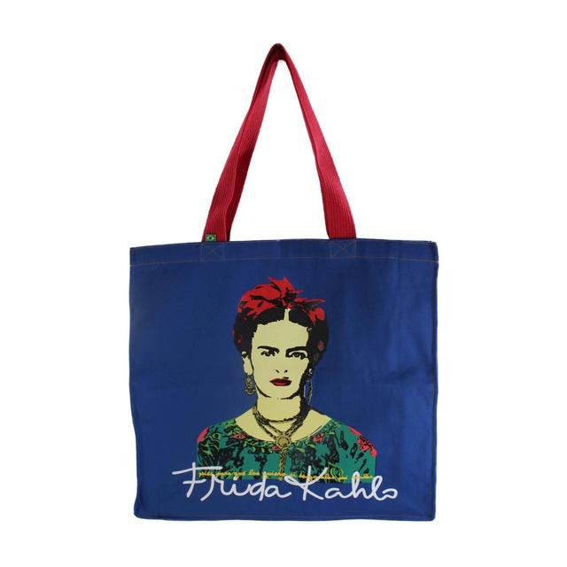 Bolsa Com Zíper Frida Kahlo Azul Royal
