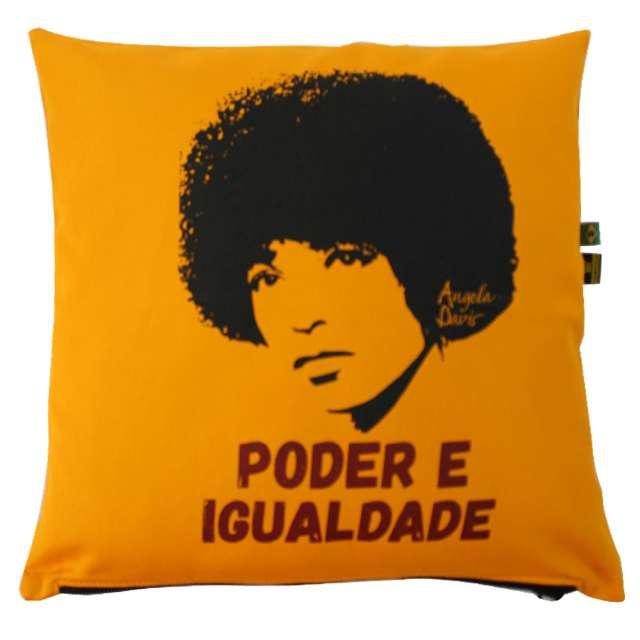 Capa de Almofada Angela Davis - Amarela