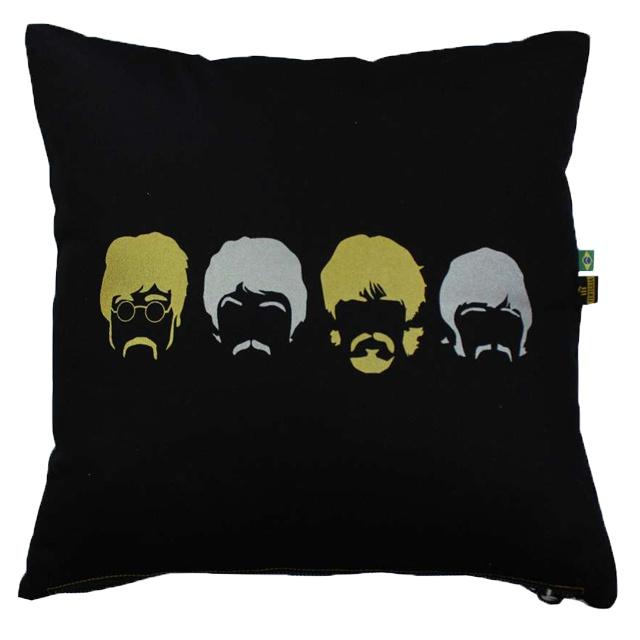 Capa de Almofada Beatles Preta