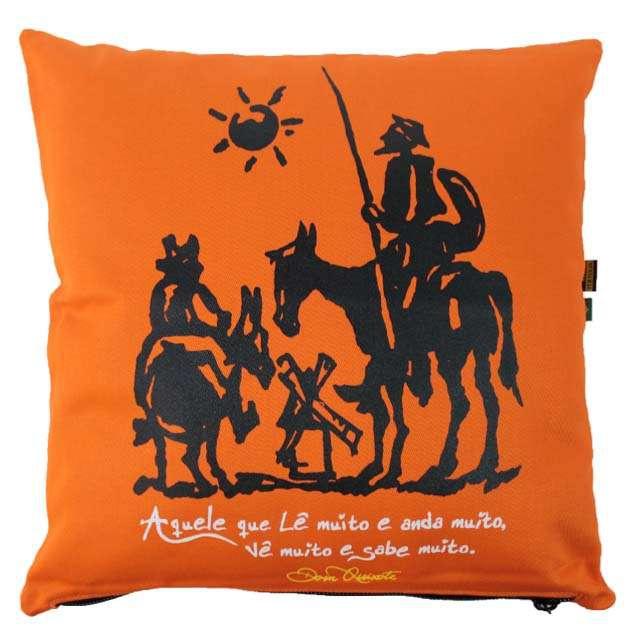 Capa de Almofada Dom Quixote Laranja