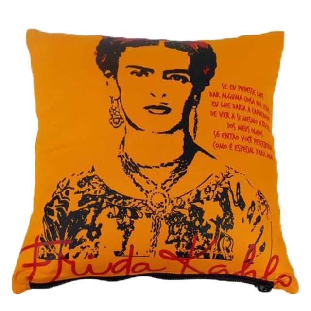 Capa de Almofada Frida Kahlo Olhos Amarela