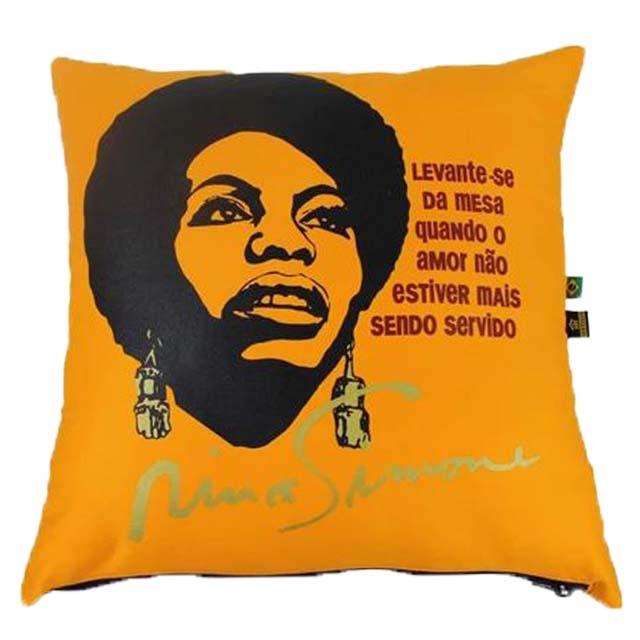 Capa de Almofada Nina Simone Amarela