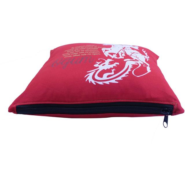 Capa de Almofada Ogum Vermelha
