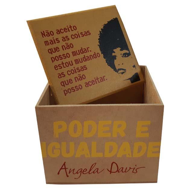 Caixa Porta Chá Angela Davis