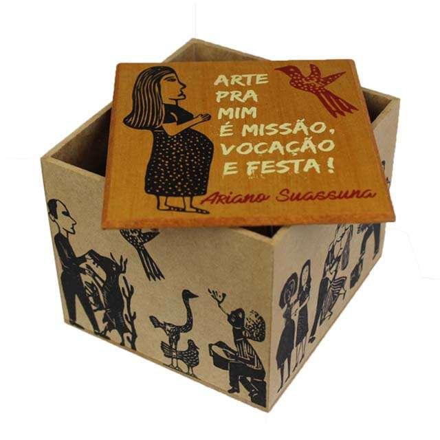Caixa Porta Chá Ariano Suassuna