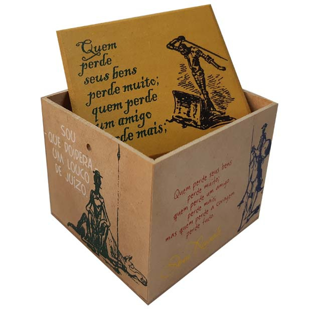Caixa Porta Chá Dom Quixote