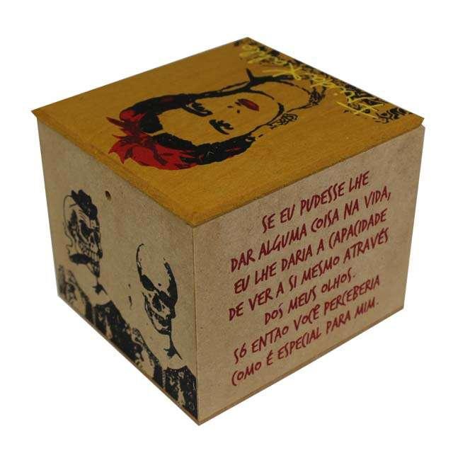 Caixa Porta Chá Frida Kahlo