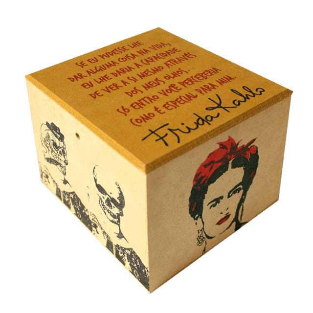 Caixa Porta Chá Frida Kahlo Olhos