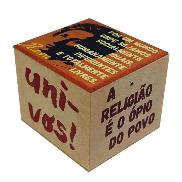Caixa Porta Chá Resistência Rosa Luxemburgo