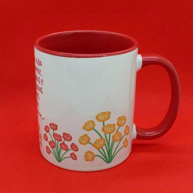 Caneca Cora Coralina Color Vermelho