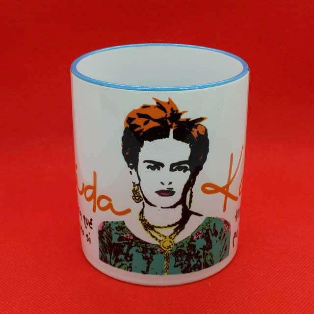 Caneca Frida Kahlo Piés Color Azul Claro