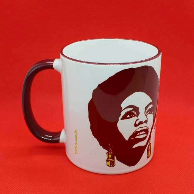 Caneca Nina Simone Color Bordô