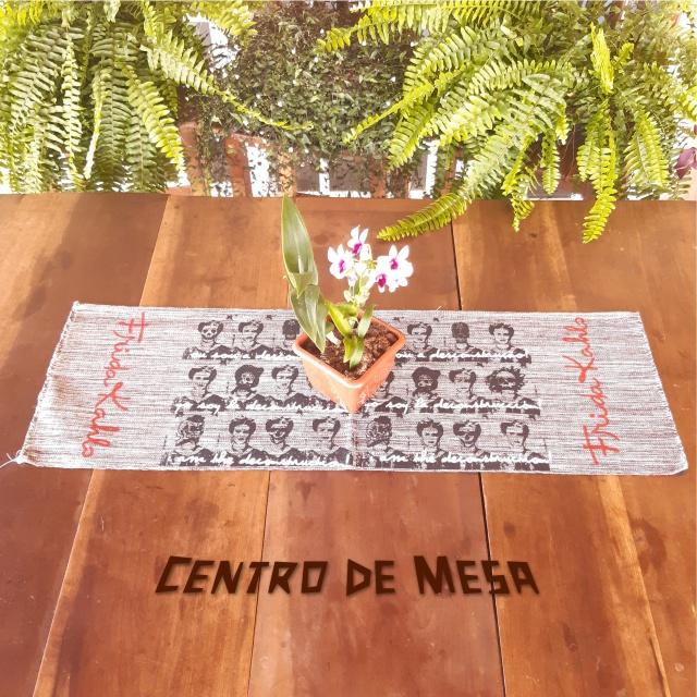 CENTRO DE MESA FRIDA (DESCONSTRUÇÃO) - cinza
