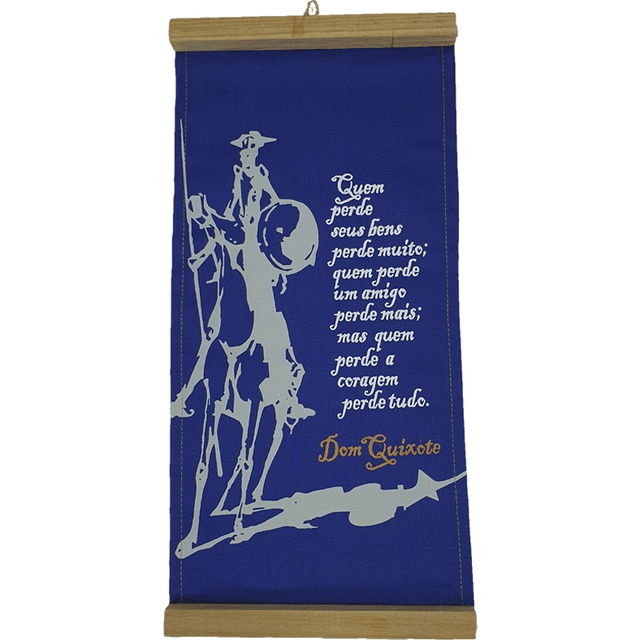 Flâmula Dom Quixote Coragem Azul