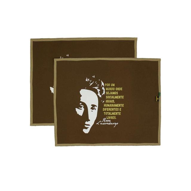 Jogo Americano Rosa Luxemburgo Marrom