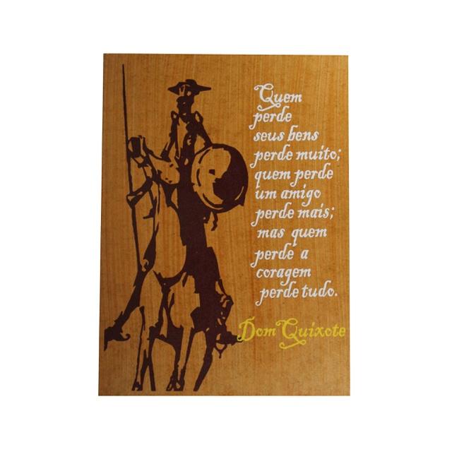 Quadrinho Dom Quixote Coragem