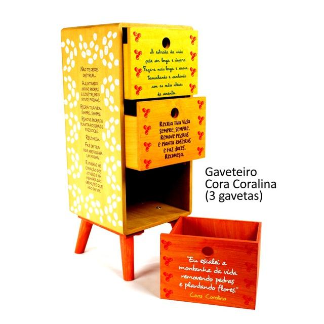 Gaveteiro Cora Coralina - 3 gavetas