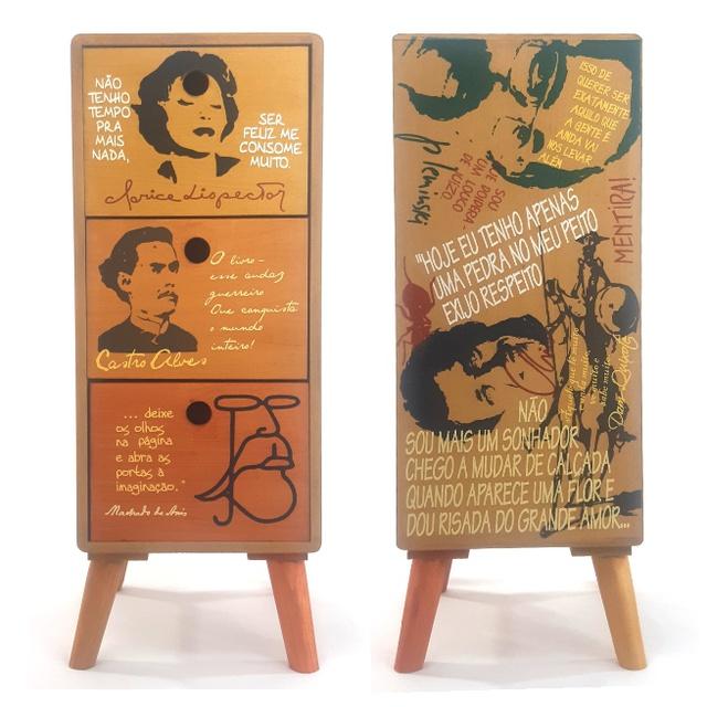 Gaveteiro Literatura - 3 gavetas