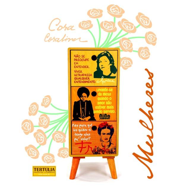 Gaveteiro Mulheres - 3 Gavetas