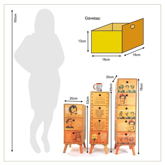 Gaveteiro Mulheres - 5 gavetas