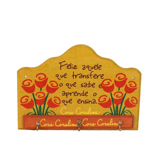Porta-chaves Cora Coralina