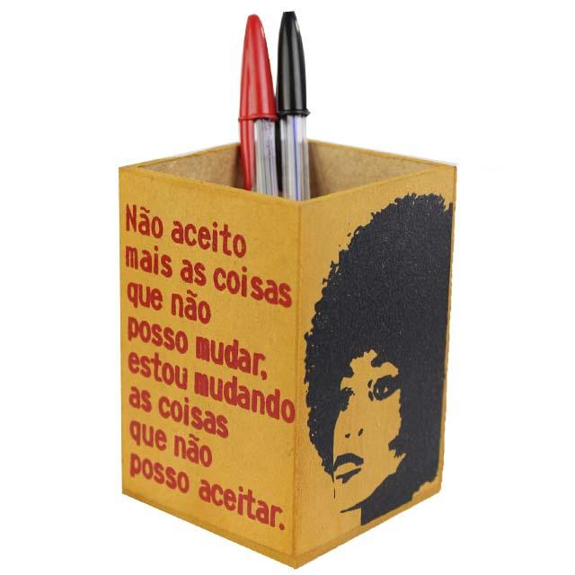 Porta-lápis Angela Davis