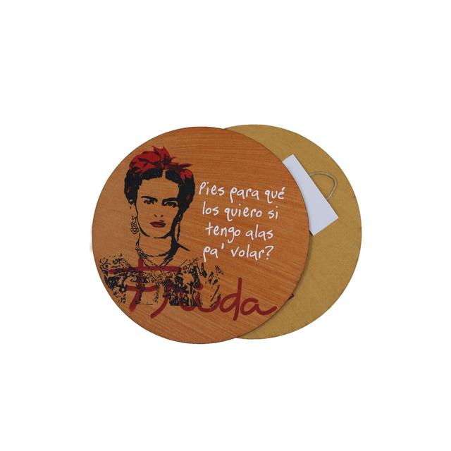 Quadrinho Redondo Frida Kahlo Alas