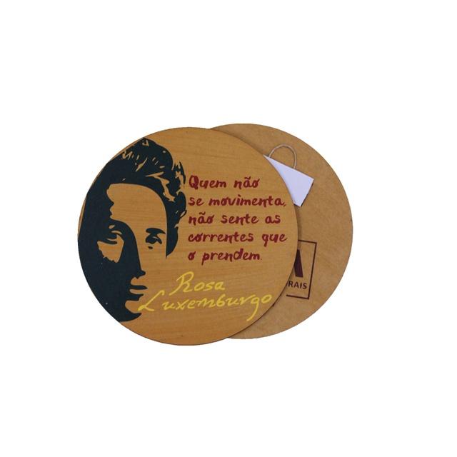Quadrinho Redondo Rosa Luxemburgo