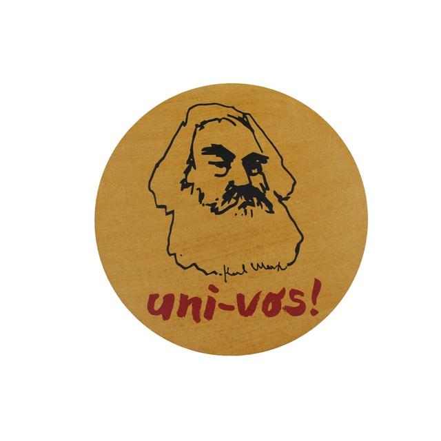 Quadro Redondo Karl Marx