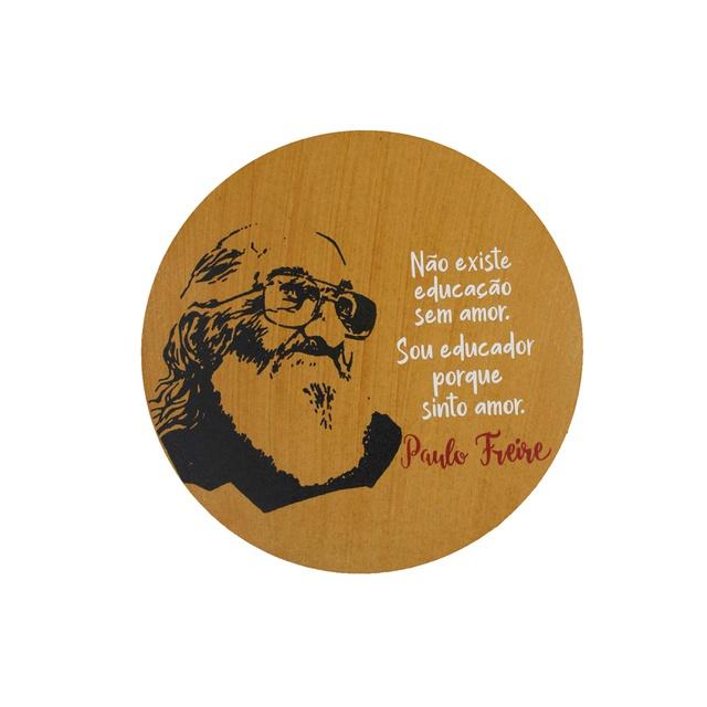 Quadro Redondo Paulo Freire