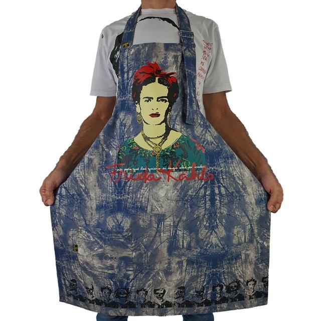 Avental Frida Kahlo Especial Azul
