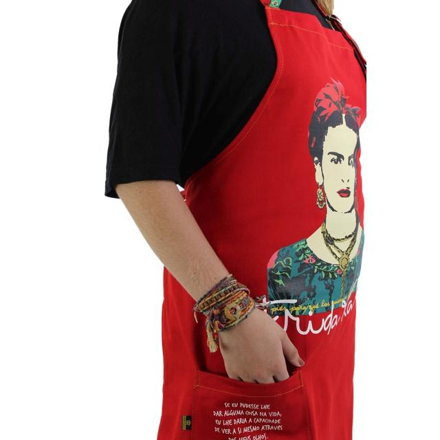 Avental Frida Kahlo Vermelho