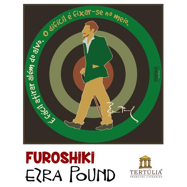 FUROSHIKI EZRA POUND - Preto - 70x70cm