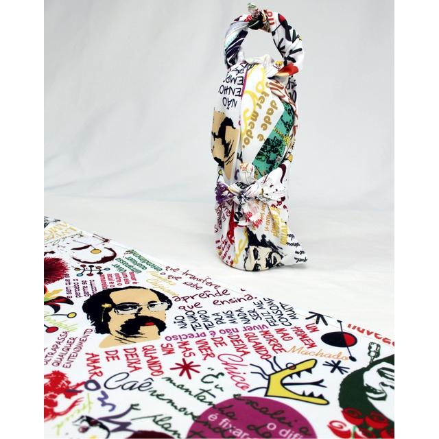FUROSHIKI COLETÂNEA - Branco - 70x70cm