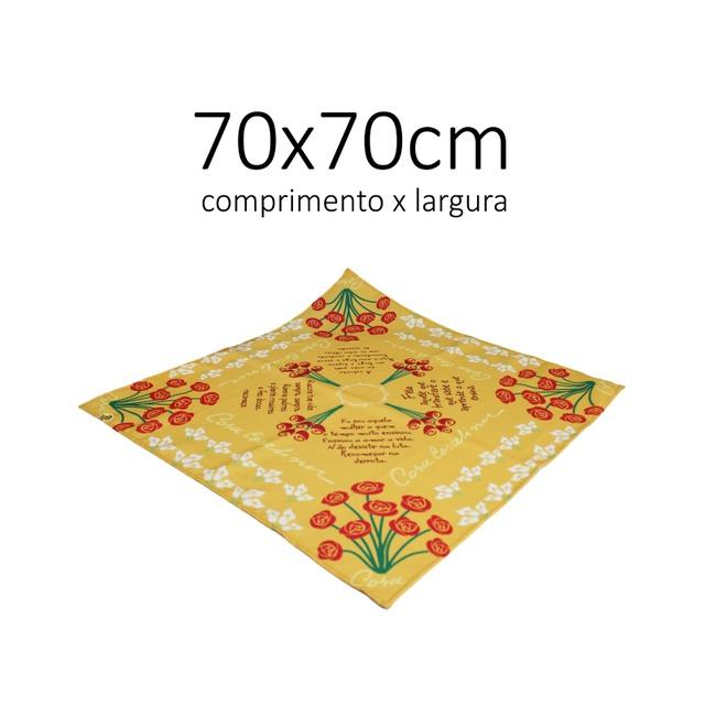 FUROSHIKI CORA - Amarelo - 70x70cm