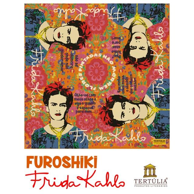 FUROSHIKI FRIDA KAHLO - Frases - 70x70cm