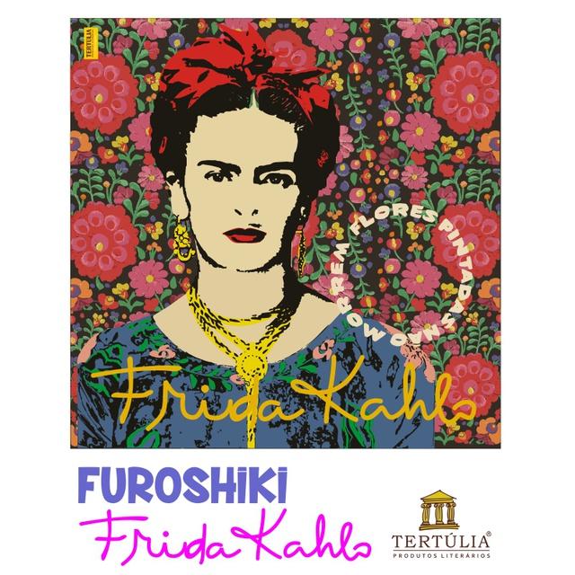FUROSHIKI FRIDA KAHLO - Floral - 70x70cm