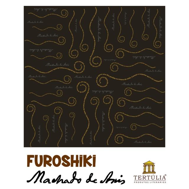 FUROSHIKI MACHADO DE ASSIS - Preto - 70x70cm