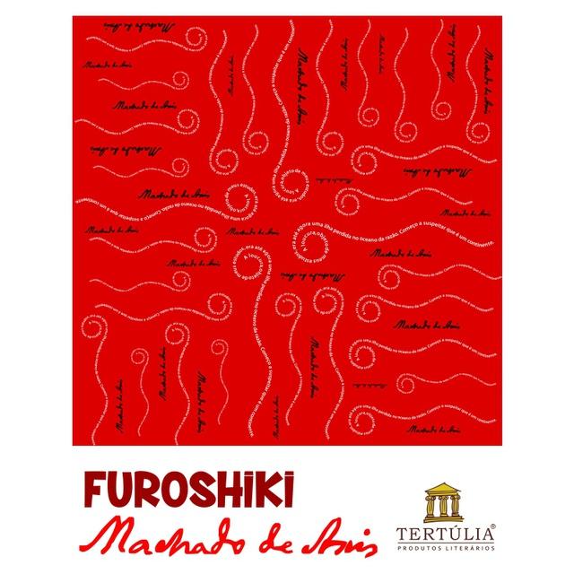 FUROSHIKI MACHADO DE ASSIS - Vermelho - 70x70cm