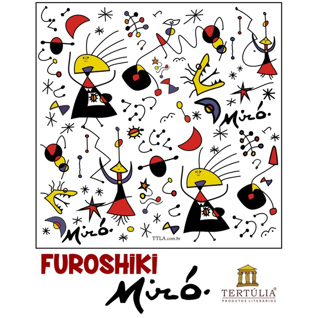 FUROSHIKI MIRÓ - Branco - 70x70cm