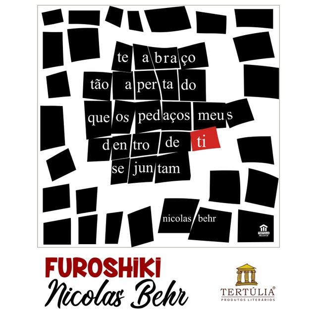 FUROSHIKI NICOLAS BEHR - Preto e Branco - 70x70cm